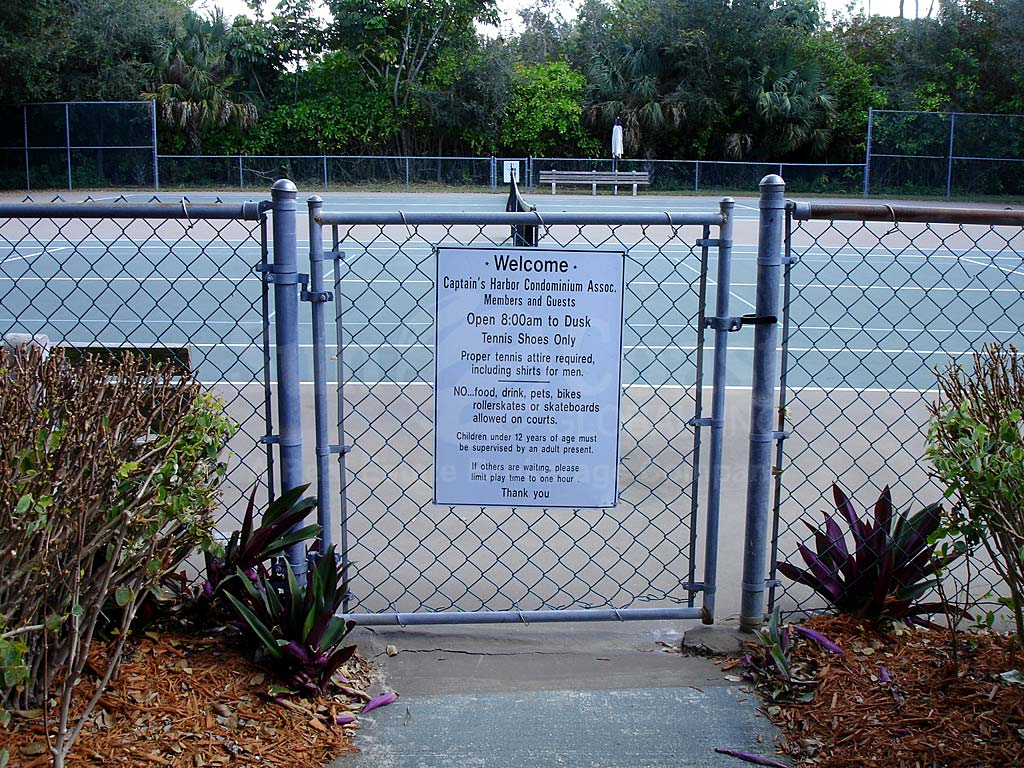 Captains Harbor Condo Tennis Courts
