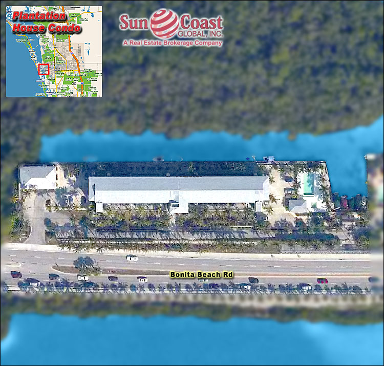 Bonita Beach Plantation Overhead Map