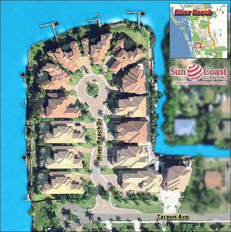 River Reach Estates Overhead Map