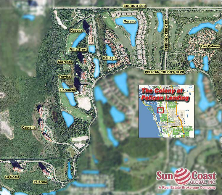 The Colony At Pelican Landing Overhead Map