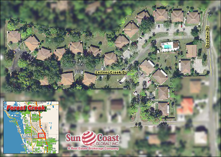 Forest Creek Villas Overhead Map