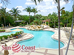 Resort style pools are common and plentiful in Florida.