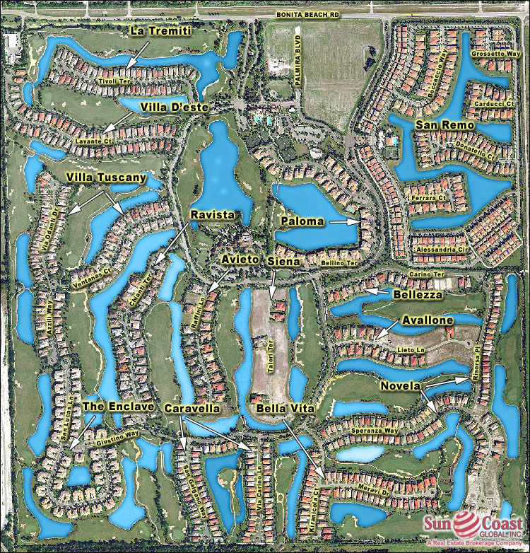 Palmira Golf And Country Club Overhead Map