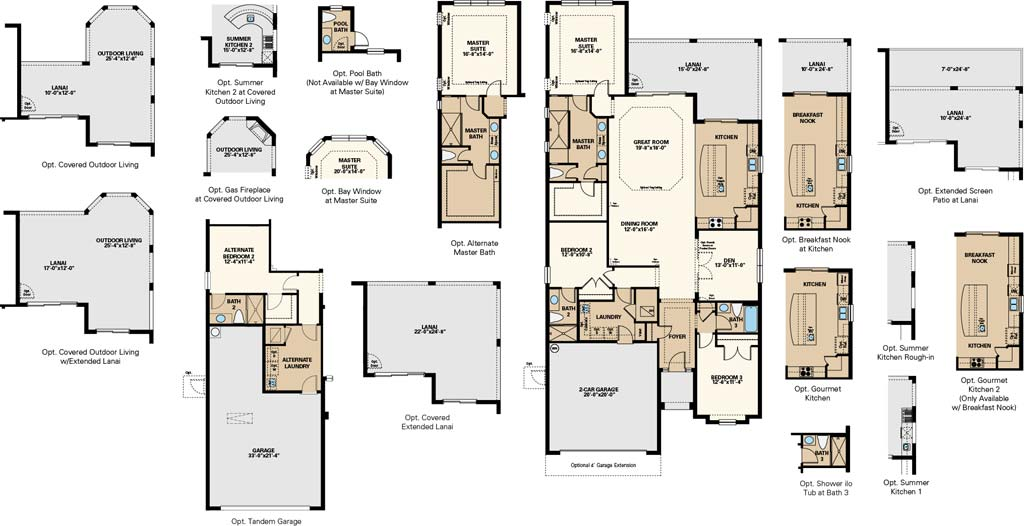 Lazio Floor Plan at Pebble Pointe At The Brooks, Bonita Springs by Taylor Morrison