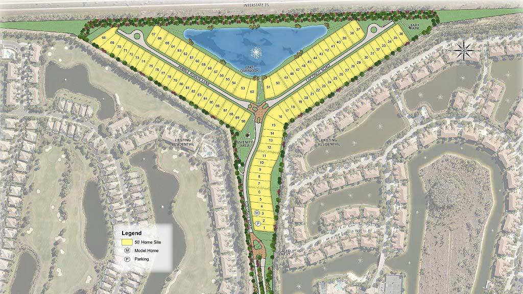 Pebble Pointe At The Brooks Site Plan