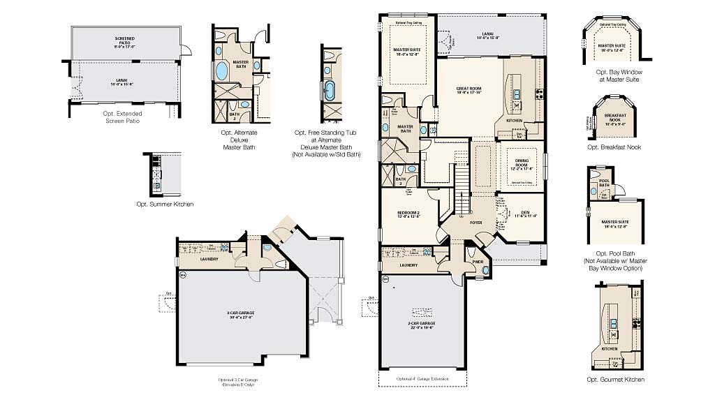 Trevi Floor Plan at Pebble Pointe At The Brooks, Bonita Springs by Taylor Morrison