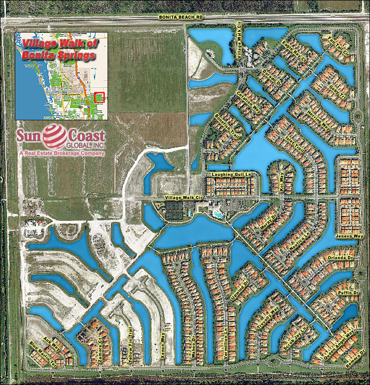 Village Walk Of Bonita Springs Overhead Map