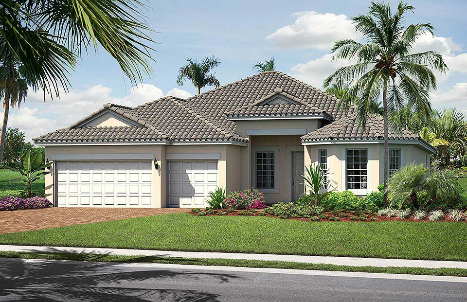 Dunwoody Trail Model Home in Village Walk at Bonita Springs by Divosta