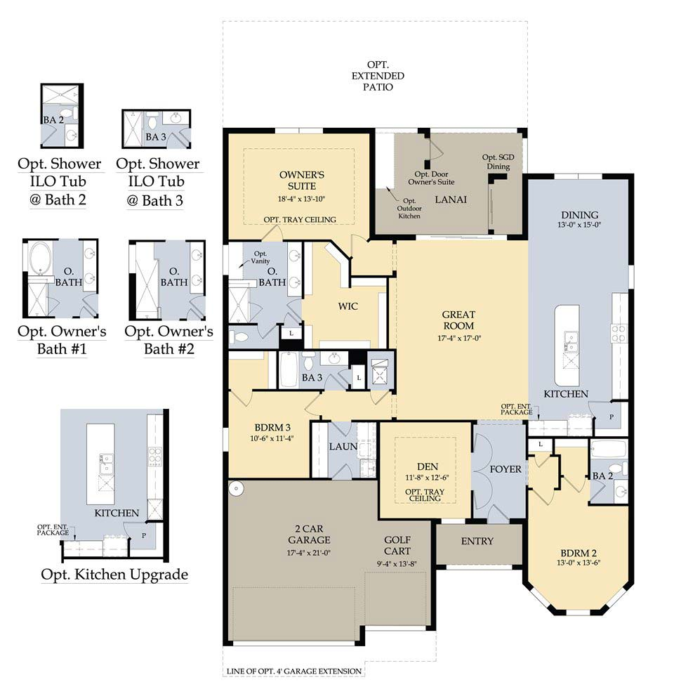 Dunwoody Trail Floor Plan in Village Walk at Bonita Springs by Divosta