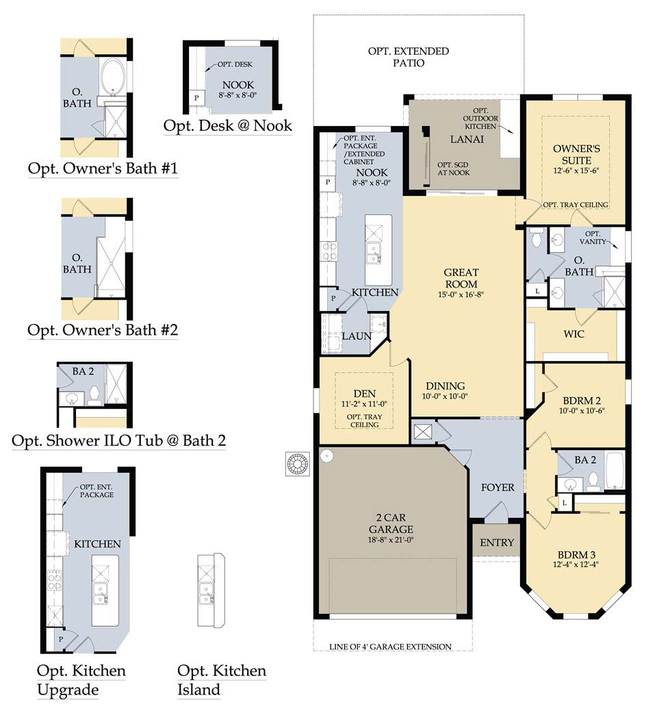 Vernon Hill Floor Plan in Village Walk at Bonita Springs by Divosta