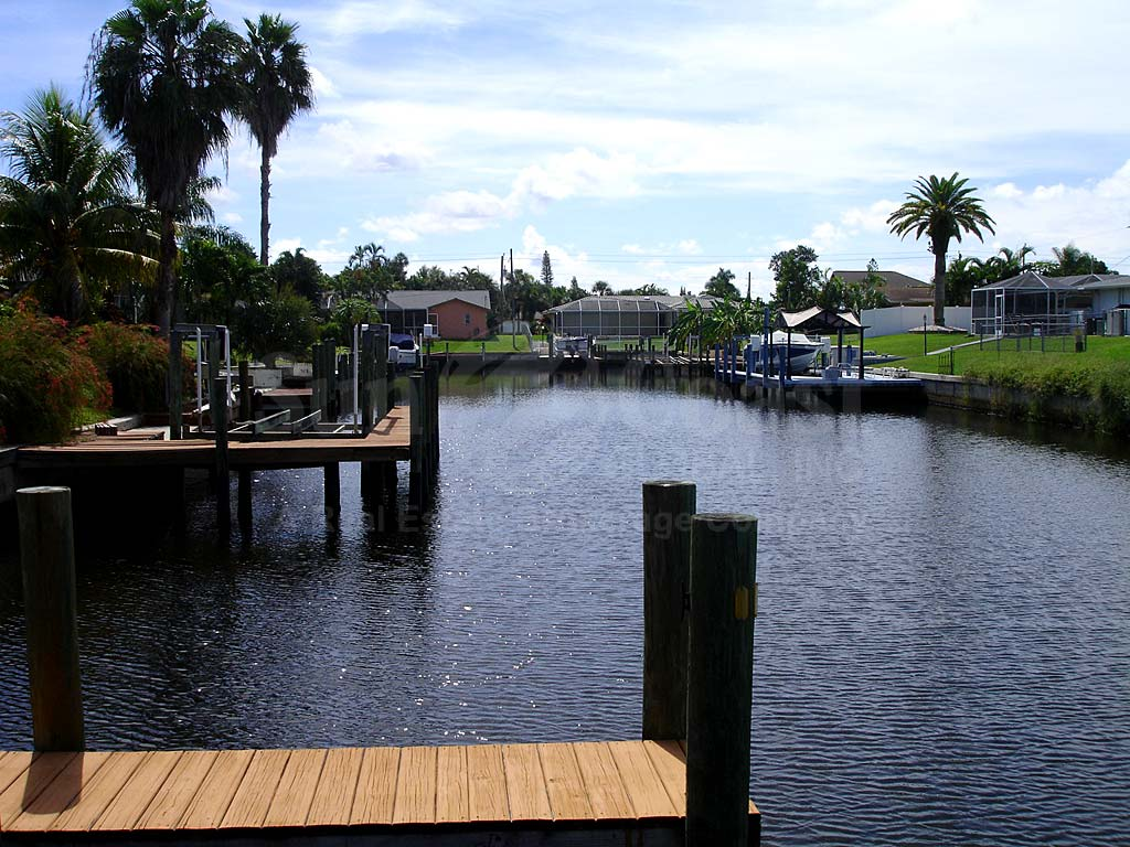 View Down the Canal From Blue Heron