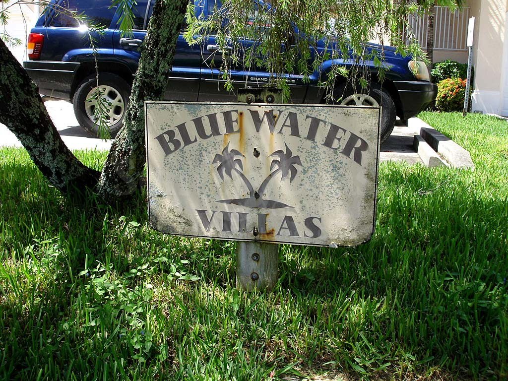 Blue Water Signage