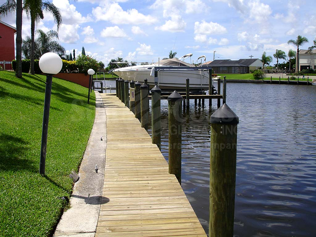 View Down the Canal From Cape Coral Villas