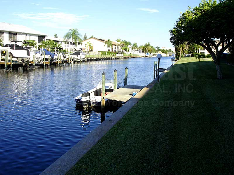 View Down the Canal From Cape Palms