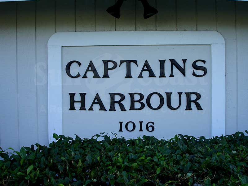 Captains Harbour Signage