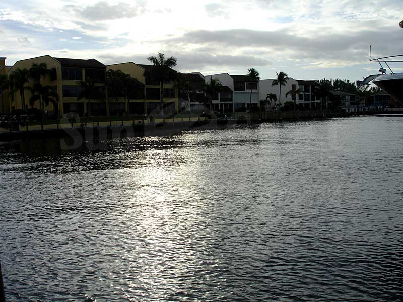View Down the Canal From Coral Reef