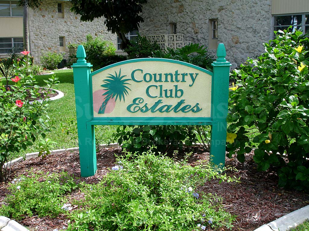Country Club Estates Signage