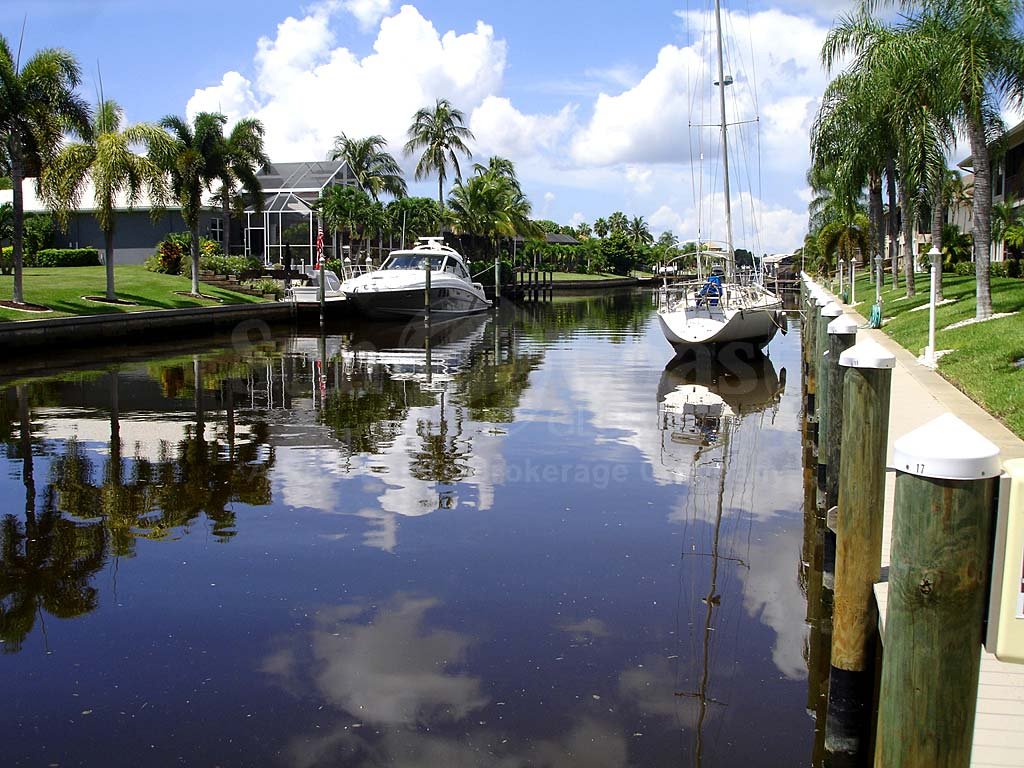 View Down the Canal From Dockside
