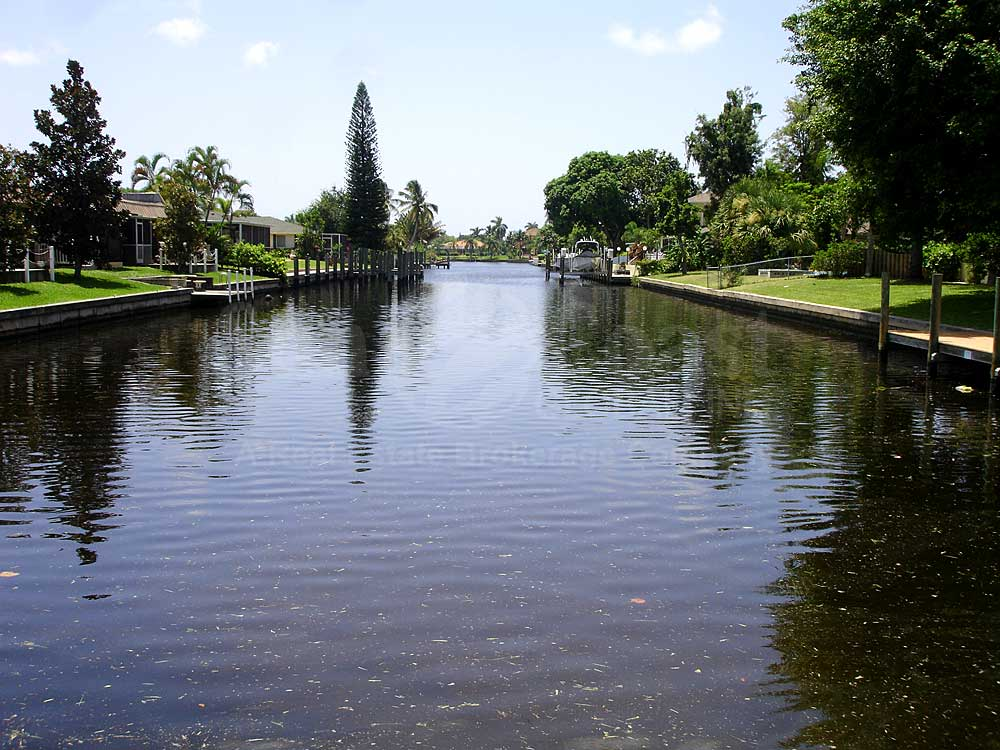 View Down the Canal From Gulf Winds