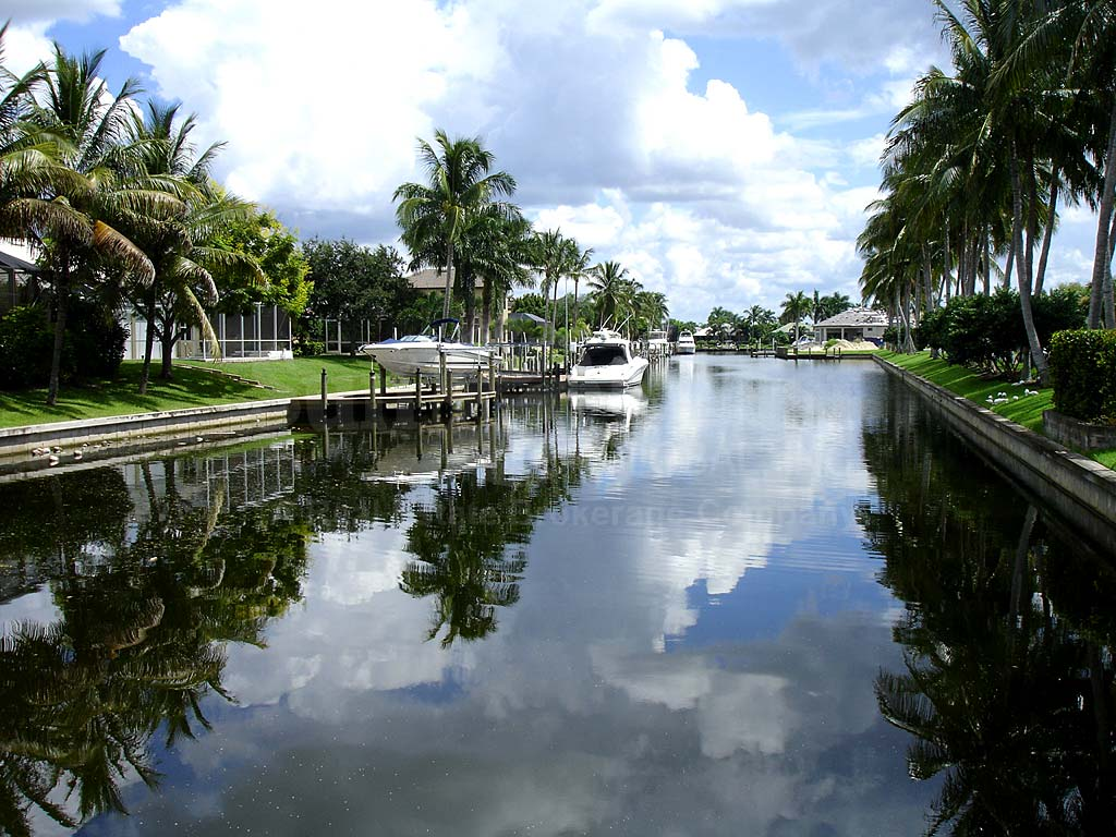 View Down the Canal From Harbour Preserve