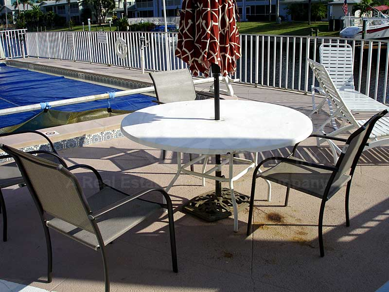 Malaga Terrace Community Pool and Sun Deck Furnishings
