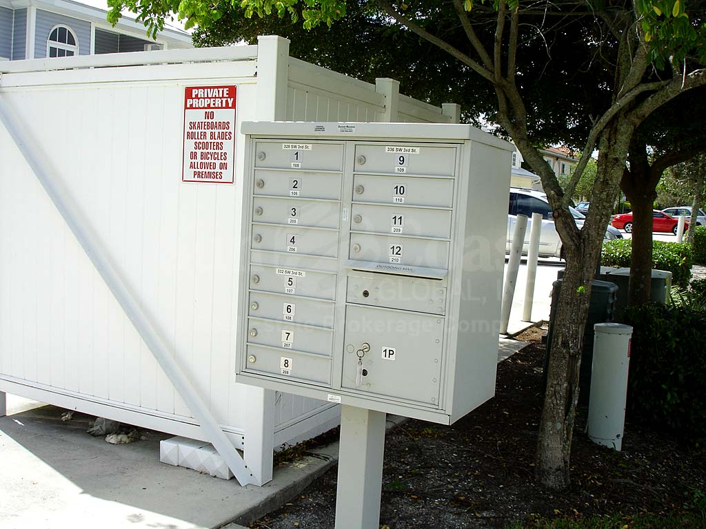Mandalay Cove Postal Boxes