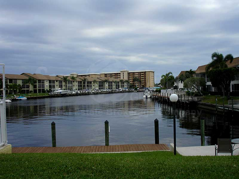 View Down the Canal From Ocean Isle Riverview