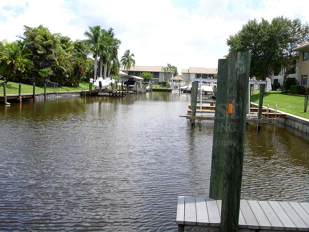 View Down the Canal From Palm Breeze