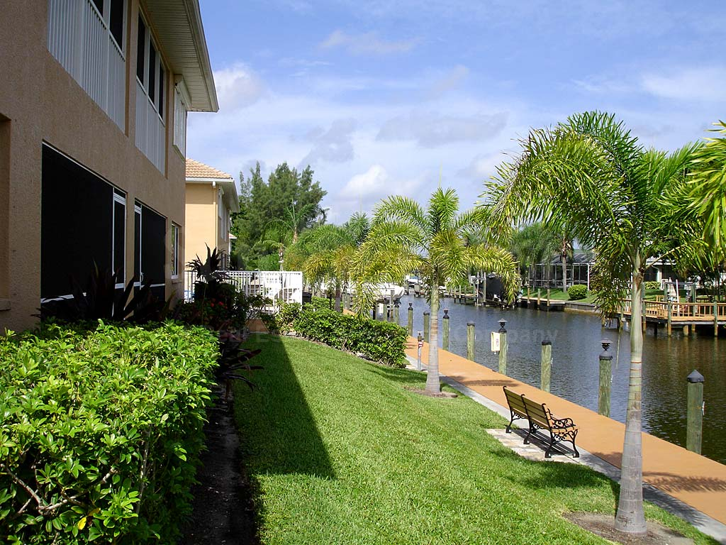 View Down the Canal From Palm Breeze II