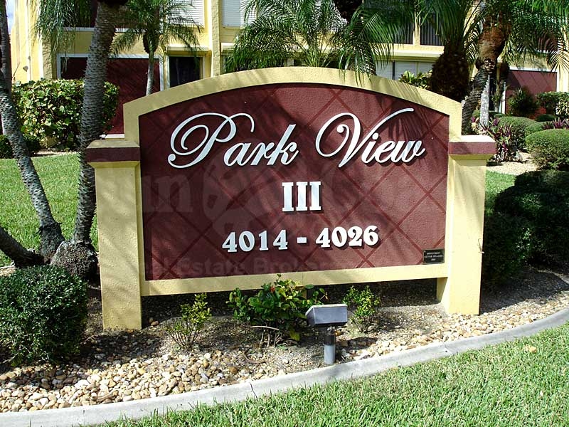 Park View III Signage
