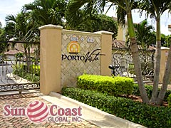 Porto Vista Community Sign and Gated Entrance