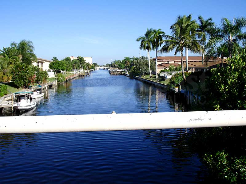 View Down the Canal From Royal Palm