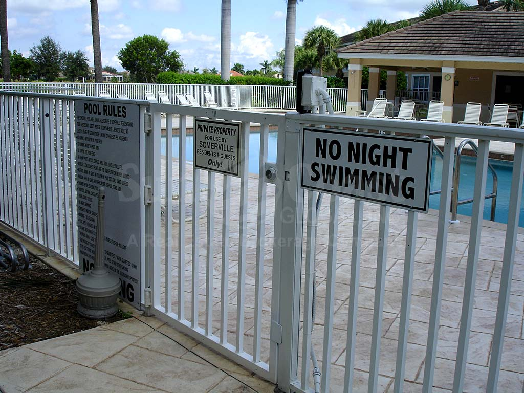Somerville Community Pool Safety Fence