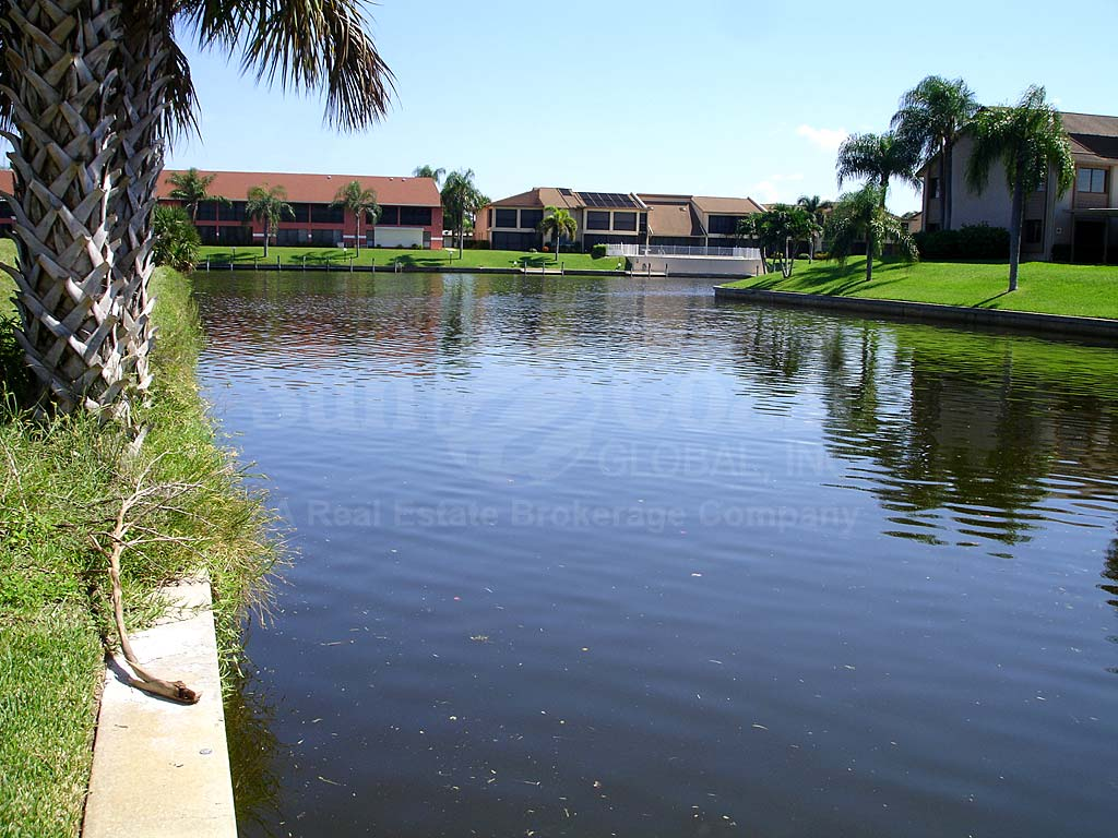 View Down the Canal From South Coral Palms