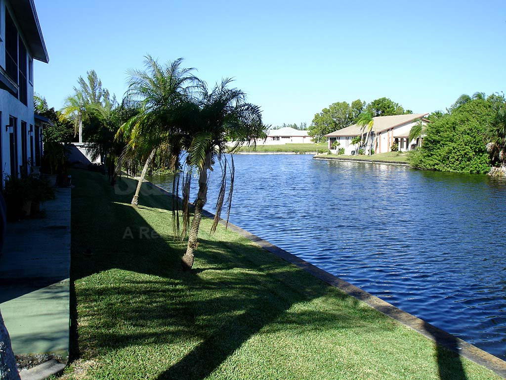 View Down the Canal From Waters Edge Condo