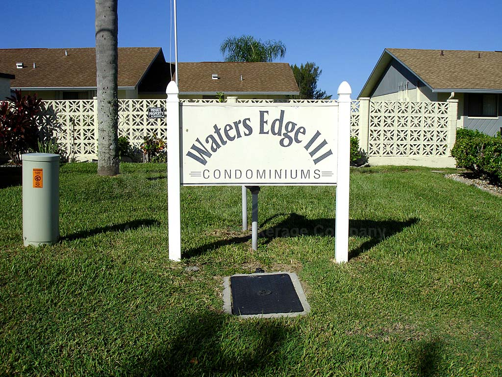 Waters Edge Condo Signage
