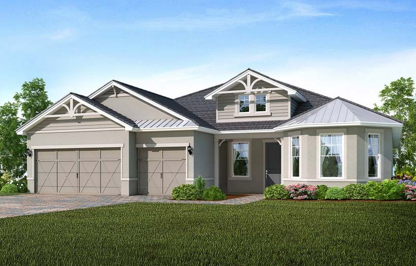 Pinnacle Model Home in Tidewater, Estero by Del Webb