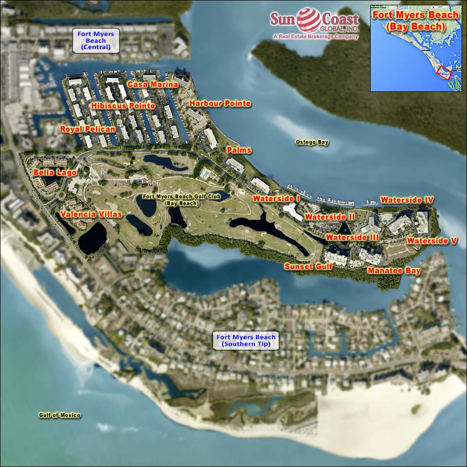VALENCIA VILLAS At BAY BEACH Real Estate FORT MYERS BEACH Florida - Florida map naples fort myers