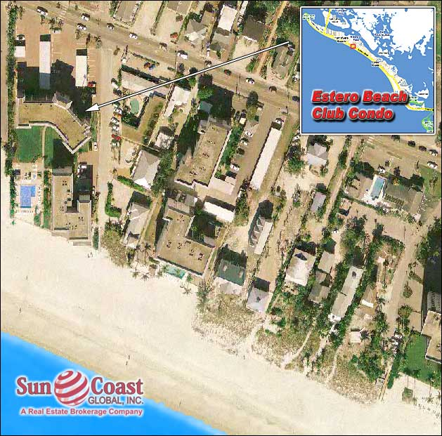 Estero Beach Club Condo Overhead Map