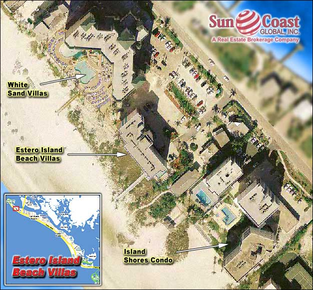 Pink Shell Estero Island Beach Villas Overhead Map