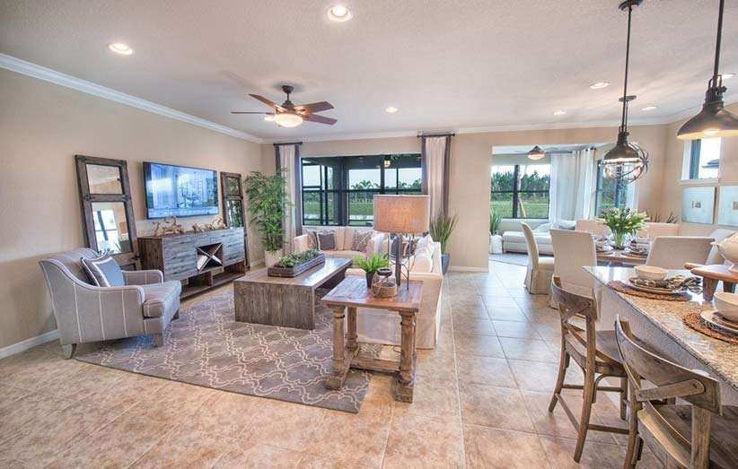 Abbeyville Model Home in Camden Square, Fort Myers, by Pulte