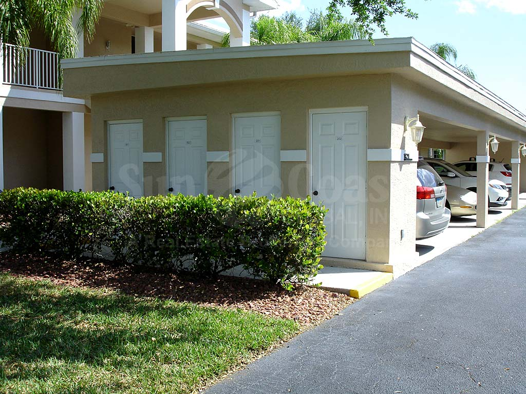 Cypress Lake Country Club Condos Parking with Storage