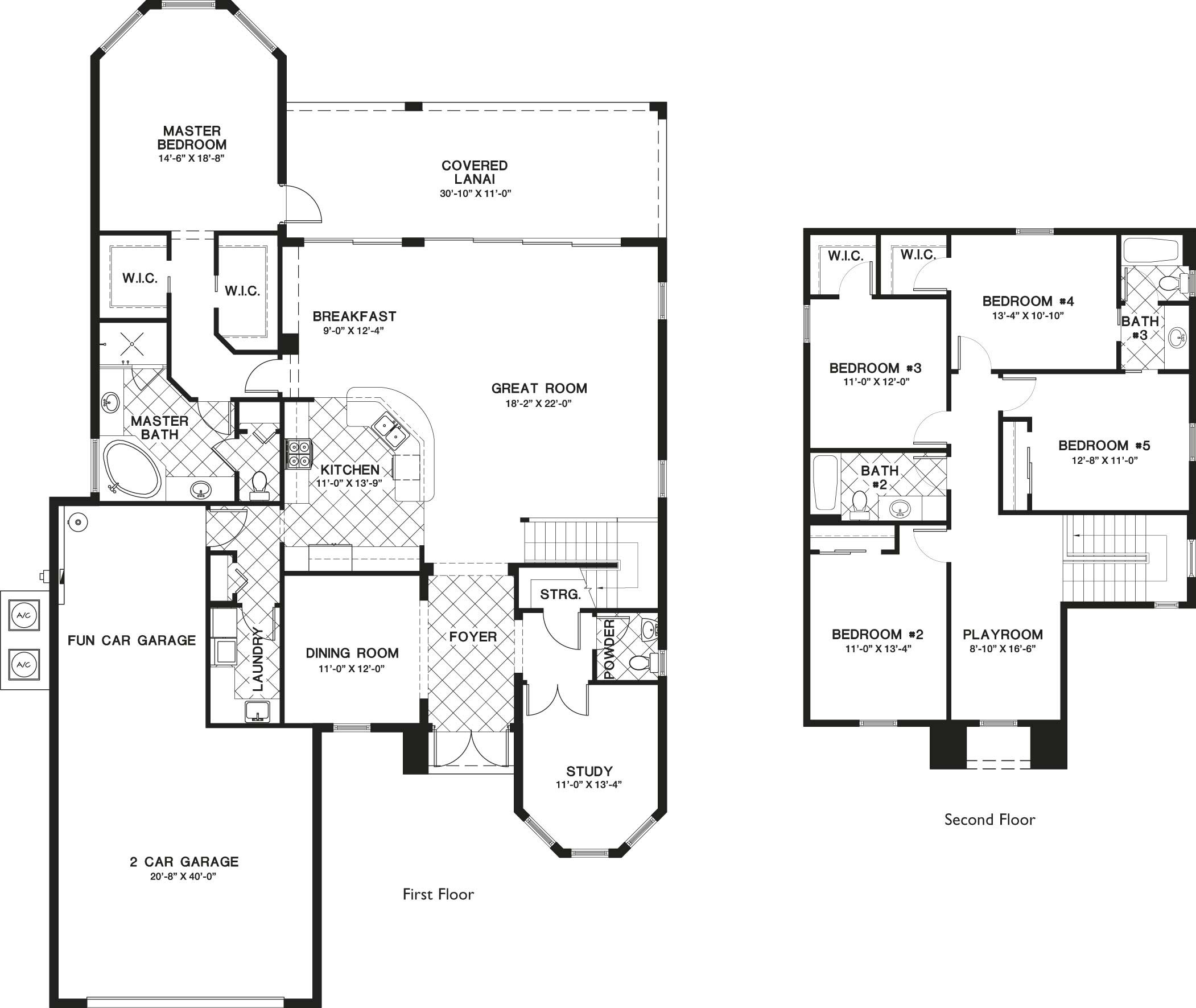 Corleone I Floor Plan In Paseo, 5 Bedroom, 3 1/2 Bath