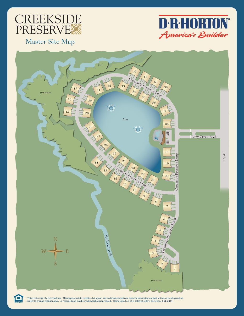 Creekside Preserve Site Map