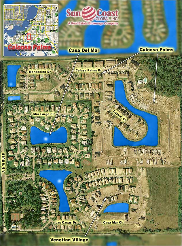 Calusa Palms Overhead Map