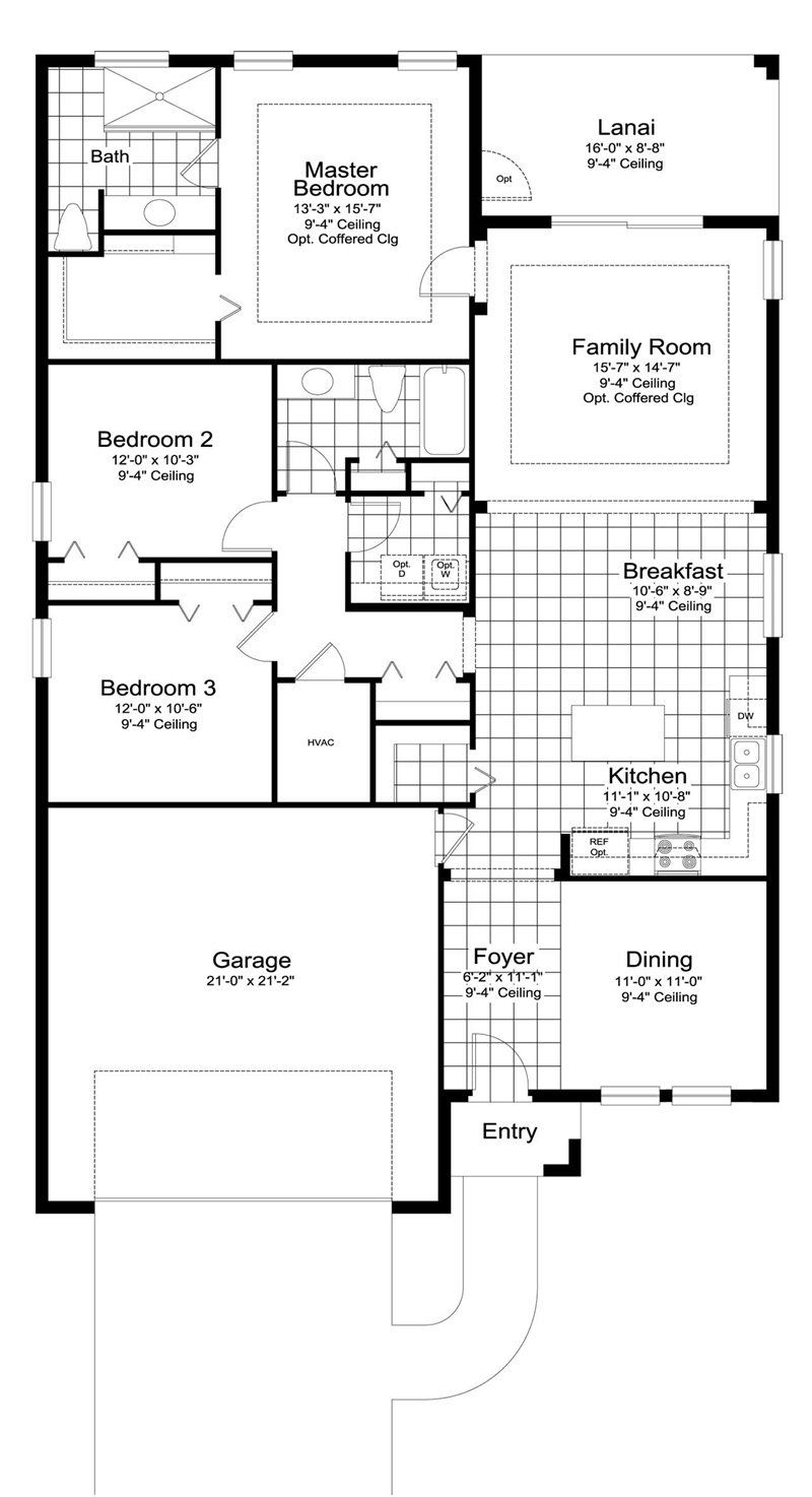 Fresh Water 2 Floor Plan in Coastal Key, Fort Myers by Neal Communities, 3 Bedrooms, 2 Bathrooms, 2 Car garage, 1,772 Square feet, 1 Story home