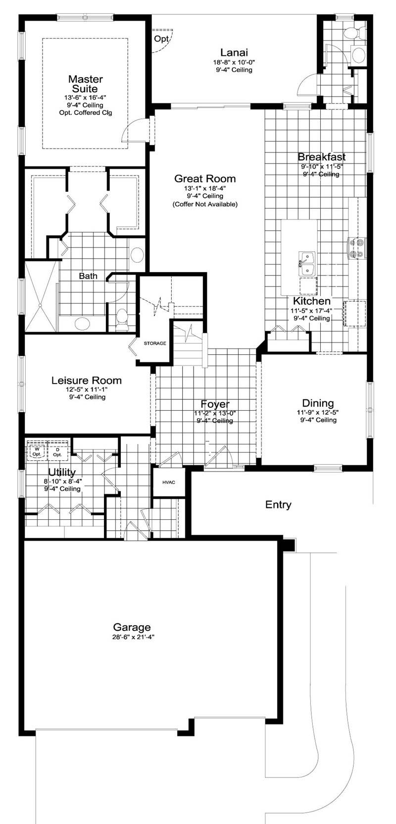 Silver Mist 3 Floor Plan in Coastal Key, Fort Myers by Neal Communities, 4 Bedrooms, 3.5 Bathrooms, 3 Car garage, 2,913 Square feet, 2 Story home