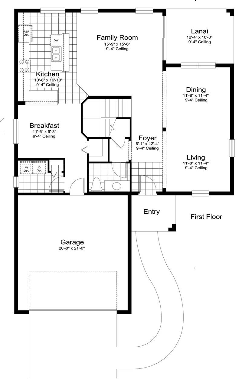 Sunrise Floor Plan in Coastal Key, Fort Myers by Neal Communities, 4 Bedrooms, 2.5 Bathrooms, 2 Car garage, 2,535 Square feet, 2 Story home