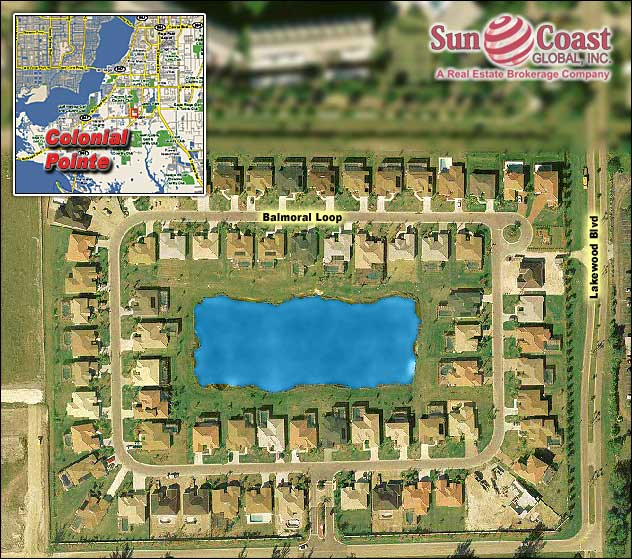 Colonial Pointe Overhead Map