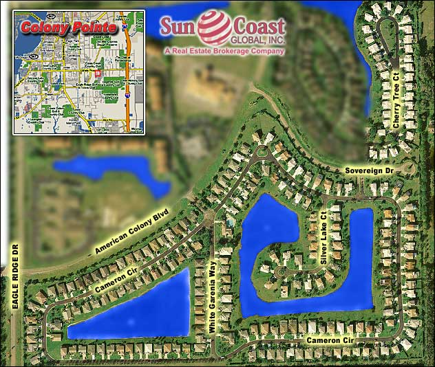 Colony Pointe Overhead Map